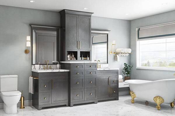 Step grey vanity 2