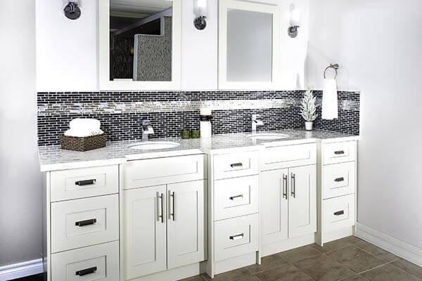 White Shaker Vanity set