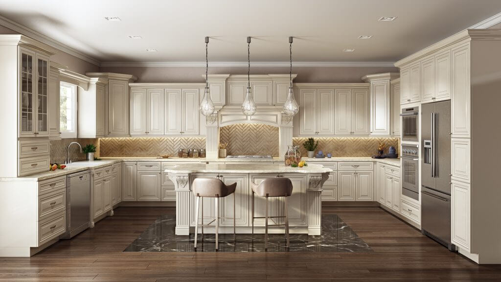 Antique White kitchen set